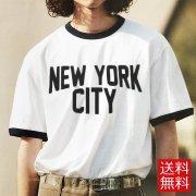 NEW YORK CITY ジョン・レノン リンガー Tシャツ