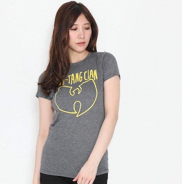 """Wu Tang Clan /ウータン・クラン """"ロゴマーク""""  ヘザーグレー  レディースTシャツ"""