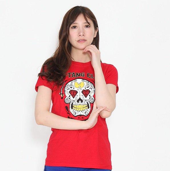 """Wu Tang Clan / ウータン・クラン """"レッドスカル"""" イラスト  レディースTシャツ"""