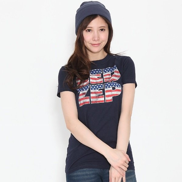 "LED ZEPPELIN/ レッド・ツェッペリン ""LED ZEP"" 星条旗 レディース Tシャツ"