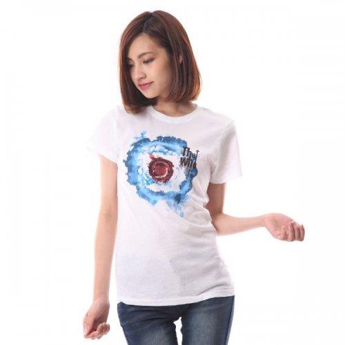 """The Who / ザ・フー """"BLEED TARGET"""" モッズ ホワイト レディース Tシャツ"""