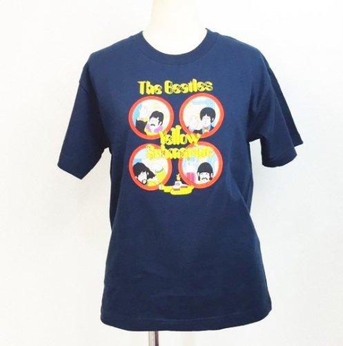 The Beatles/ザ・ビートルズ イエローサブマリン  ネイビー レディース Tシャツ