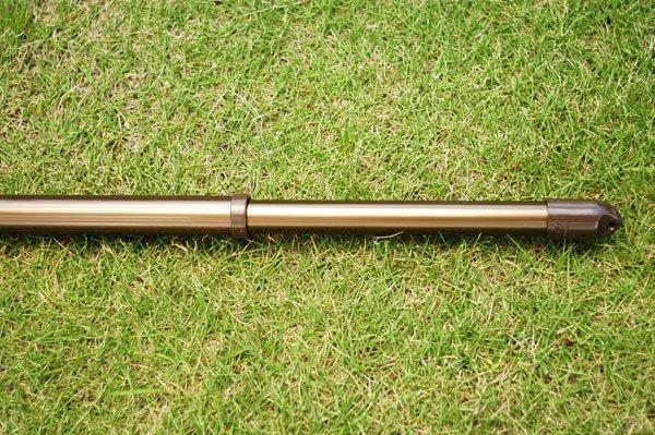 伸縮丸竿 30パイ 1.1m-1.6m ブロンズ 2本セット