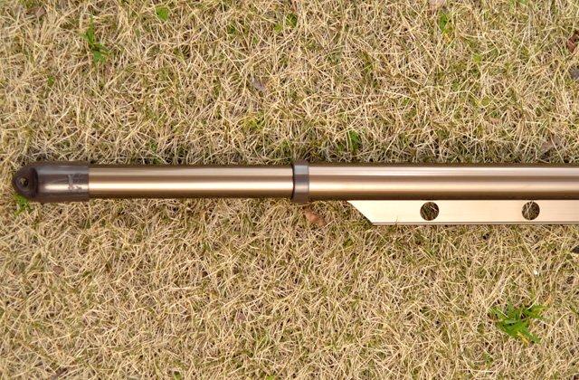 アルミ合金製 伸縮ハンガー竿 1.1m-1.6m ブロンズ色