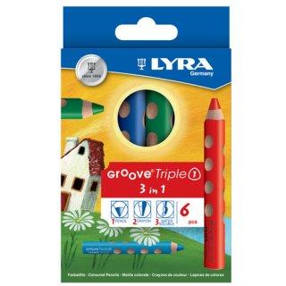 リラ 色鉛筆 GROOVE Triple 1 トリプルワン(6色セット)