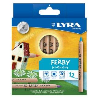 リラ ファルビー 色鉛筆(軸白木)12色セット