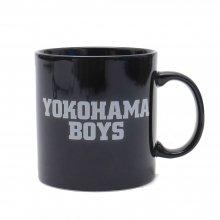 【マグカップ】「YOKOHAMA BOYS 」 MUG CUP(黒・ロゴ白)
