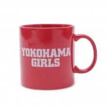 【マグカップ】「YOKOHAMA GIRLS 」 MUG CUP(赤・ロゴ白)