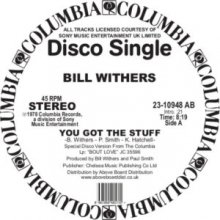[8月上旬] Bill Withers - You Got The Stuff [12inch]<img class='new_mark_img2' src='//img.shop-pro.jp/img/new/icons14.gif' style='border:none;display:inline;margin:0px;padding:0px;width:auto;' />