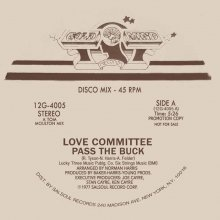 [8月下旬] LOVE COMMITTEE - PASS THE BUCK (JOE CLAUSSELL MIX) [12inch]<img class='new_mark_img2' src='//img.shop-pro.jp/img/new/icons14.gif' style='border:none;display:inline;margin:0px;padding:0px;width:auto;' />