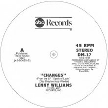 [2019年2月下旬] Lenny Williams  - Changes (Joe Claussell Edit)[12inch]