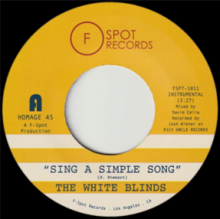 [2019年3月下旬] The White Blinds - Sing A Simple Song b/w Klapp Back [7inch]<img class='new_mark_img2' src='//img.shop-pro.jp/img/new/icons14.gif' style='border:none;display:inline;margin:0px;padding:0px;width:auto;' />