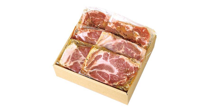3種の味付け肉 ステーキセット