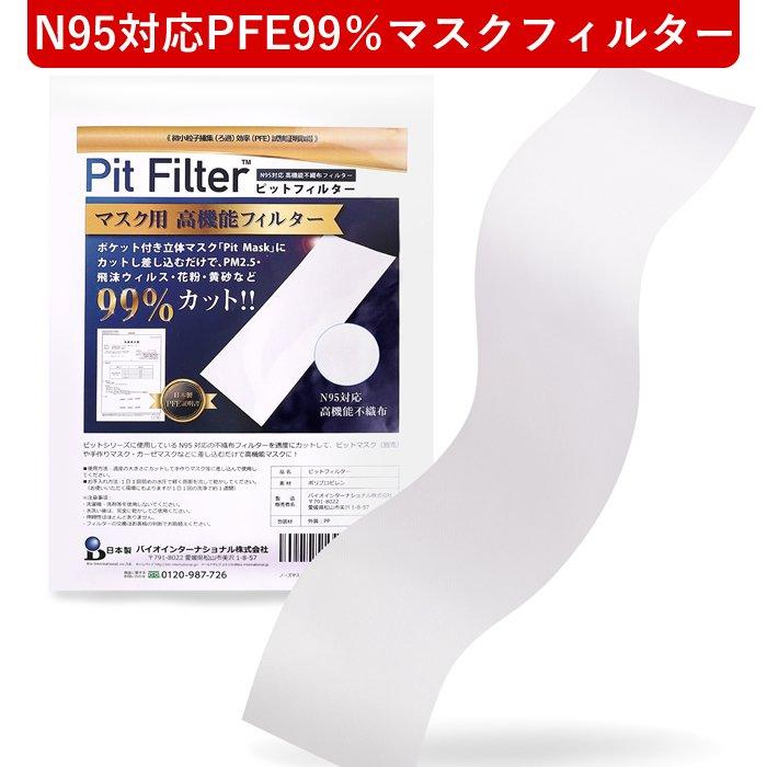 ピットフィルター【シート】 N95対応マスク用高機能フィルター【N95対応|PFE99%】