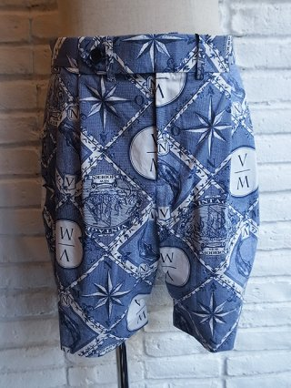 <font color=red>40%OFF</font>【yoshio kubo/ヨシオクボ】VINTAGE&MODERN SHORTS (BLUE)