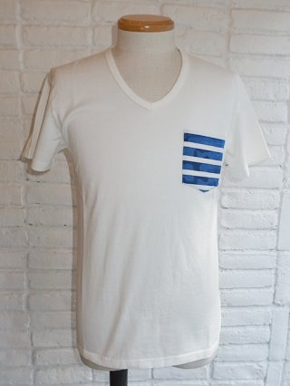 <font color=red>50%OFF</font>【AKM/エイケイエム】PK CAMO BORDER v-neck S/ST-shirts (BLUE CAMO)