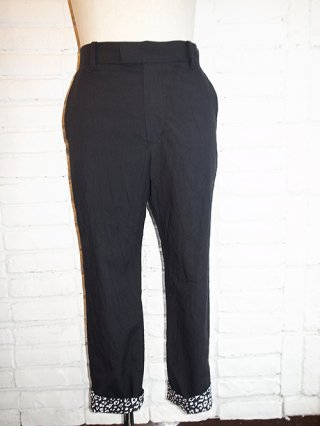 <font color=red>40%OFF</font>【DIET BUTCHER SLIM SKIN】Leopard pocket trousers (BLACK)