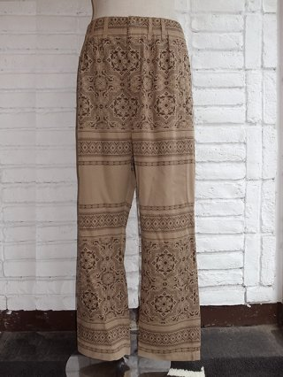 <font color=red>40%OFF</font>【Iroquois/イロコイ】DEAD MAN BORDER WIDE SAROUEL PANTS (BEIGE)