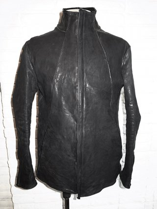 【incarnation/インカネーション】HORSE LEATHER ZIP/F RIDER JACKET LINED (BLACK)