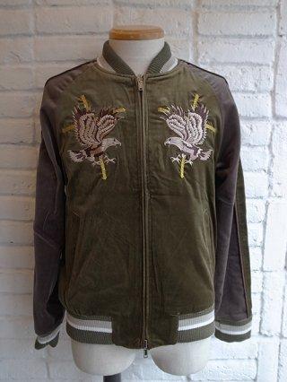 【DIET BUTCHER SLIM SKIN】Reversible Souvenir Jacket (OLIVE GREEN)