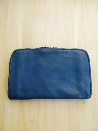 【incarnation×Karaln】CALF SHOULDER ROUND ZIP WALLET (D.BLUE)