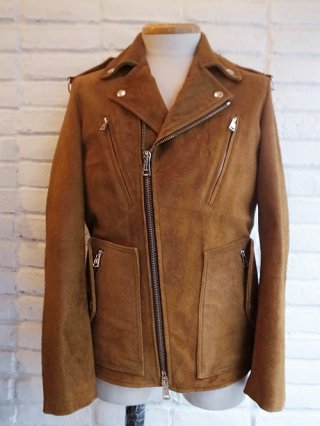 【DIET BUTCHER SLIM SKIN/ダイエットブッチャースリムスキン】Leather biker Jacket (CAMEL SUEDE)