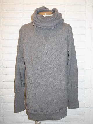 【CRUCE&Co./クルーチェアンドコー】Cotton fleece shawl pullover (GRAY)