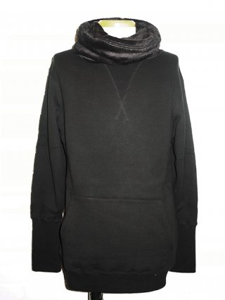 【CRUCE&Co./クルーチェアンドコー】Cotton fleece shawl pullover (BLACK)