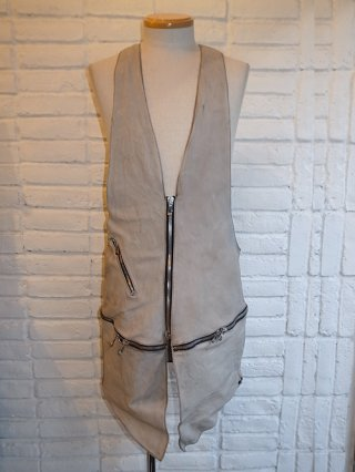 【incarnation/インカネーション】BABY CALF VEST BAG LONG (L.GRAY)