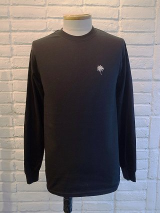 【SUPERTHANKS/スーパーサンクス】ヤシの木刺繍LONG SLEEVE T-SHIRTS (BLACK/GRAY)