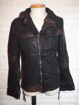 【14th Addiction/フォーティースアディクション】BENGY Leather Riders (BLK×BROWN)