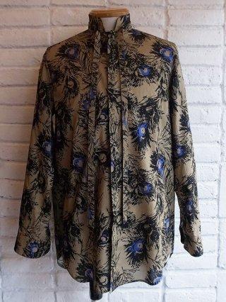 【GalaabenD/ガラアーベント】綿ローン ピーコックフェザーPT. ドローコードシャツ(BEIGE)