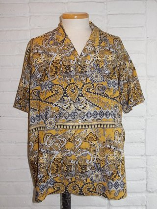 【Iroquois/イロコイ】PAISLEY CAMO S/S SHIRT (YELLOW)
