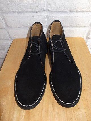 【DELAY by Win&Sons/ディレイバイウィンアンドサンズ】back Chukka Boots (BLACK)