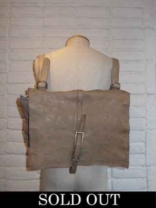【incarnation/インカネーション】CALF LEATHER 2WAY MAIL/BACKPACK (L.GRAY)