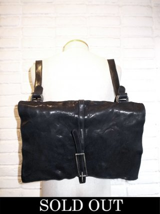 【incarnation/インカネーション】CALF LEATHER 2WAY MAIL/BACKPACK (BLACK)