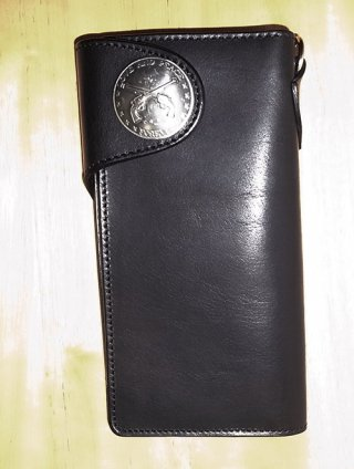 【roar/ロアー】TOCHIGI LEATHER CONCHO WALLET (BLACK)