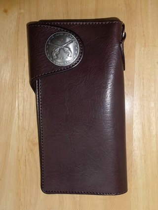 【roar/ロアー】TOCHIGI LEATHER CONCHO WALLET (DARK BROWN)