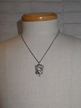 【roar/ロアー】RIBBON NECKLACE (SILVER)