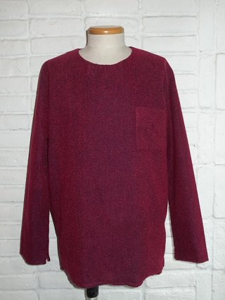 【rewords/rewordsdesign (リワーズ )】SIDE ZIP PULLOVER (RED×NVY)