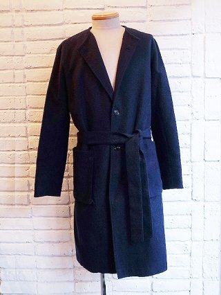 【rewords/rewordsdesign (リワーズ )】COLLARLESS GOWN (BLUE×BLK)