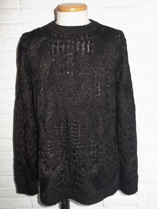 【roar/ロアー】STARRY CABLE KNIT (BLACK)