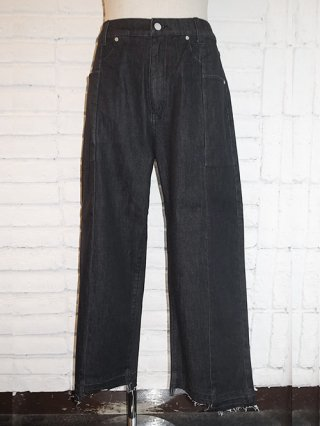【SUPERTHANKS/スーパーサンクス】DENIM CHANGE PANTS (BLACK)