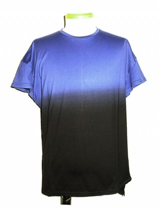 【DIET BUTCHER SLIM SKIN】Magic hour gradation T-shirt (NAVY~BLACK)
