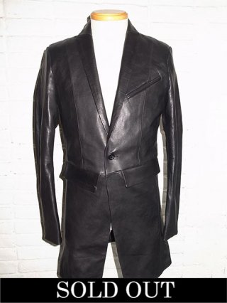 【STRUM×Karaln】Karaln別注 Domestic Calf skin Long Jacket (BLACK)