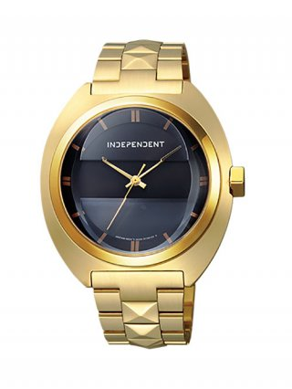 <img class='new_mark_img1' src='//img.shop-pro.jp/img/new/icons8.gif' style='border:none;display:inline;margin:0px;padding:0px;width:auto;' />【DRESSCAMP×INDEPENDENT】STUDS CLASSICO WATCH (GOLD×BLACK)