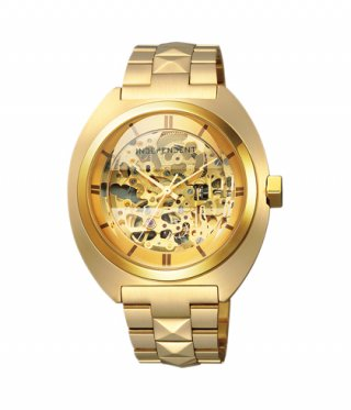 <img class='new_mark_img1' src='https://img.shop-pro.jp/img/new/icons8.gif' style='border:none;display:inline;margin:0px;padding:0px;width:auto;' />【DRESSCAMP×INDEPENDENT】STUDS SKELETON WATCH (GOLD)