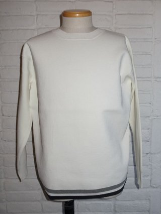 【SUPERTHANKS/スーパーサンクス】CREW NECK KNIT (WHITE)