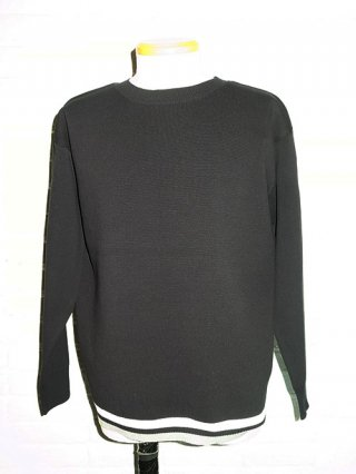 【SUPERTHANKS/スーパーサンクス】CREW NECK KNIT (BLACK)