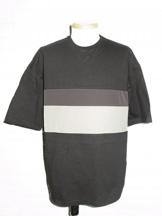 【SUPERTHANKS/スーパーサンクス】CHANGE BORDER BIC T-SHIRT (BLACK/BK/GY)